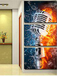 Microphone Art Print Unframed Split Canvas Paintings -