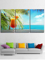 Impression de jus de mer Seaside Unframed Split peintures sur toile -