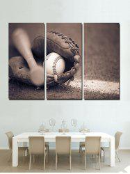 Baseball Print Unframed Split Canvas Paintings -
