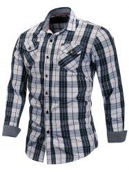 Check Pattern Chest Pocket Shirt -