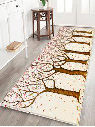 Tree Forest Illustration Print Antiskid Floor Rug -