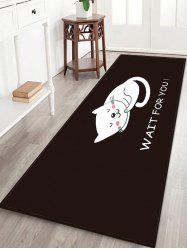 Uhommi Cartoon Sleeping Cat Print Antiskid Floor Rug -