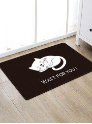 Uhommi Cartoon Sleeping Cat impression tapis antidérapant -