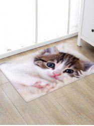 Uhommi Cute Kitten Print Nonslip Floor Rug -