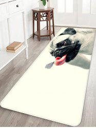 Butterfly on the Tongue of Dog Print Bath Floor Rug -