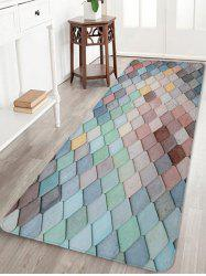 Colorful Square Pattern Antiskid Floor Rug -