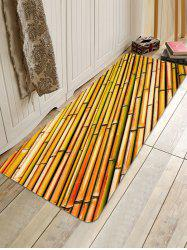 Rows of Bamboo Print Antiskid Floor Rug -