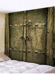 Old Wooden Door Print Wall Decor Tapestry -