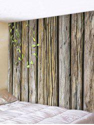 Green Vine Wood Planks Print Wall Ornament Tapestry -
