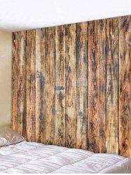 Vintage Vertical Wood Board Print Wall Tapestry -