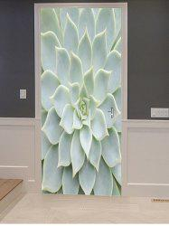 Succulents Print Door Cover Stickers -