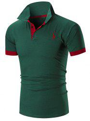 Slim Fit Embroidery Giraffe Polo T-shirt -