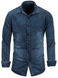 Long Sleeve Casual Denim Shirt -