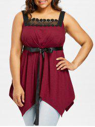 Plus Size Empire Waist Handkerchief Tank Top -