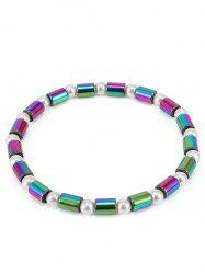Artificial Pearl Gradient Beads Strand Anklet -