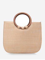 Straw Outdoor Holiday Leisure Minimalist Tote Bag -
