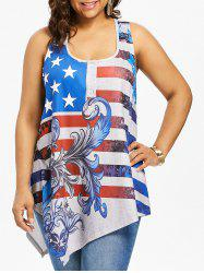Plus Size American Flag Racerback Tank Top -