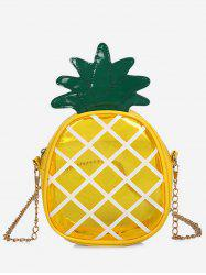 Cross Transparent Pineapple Shaped Chain Crossbody Bag -