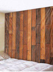 Retro Wood Background Print Wall Tapestry -
