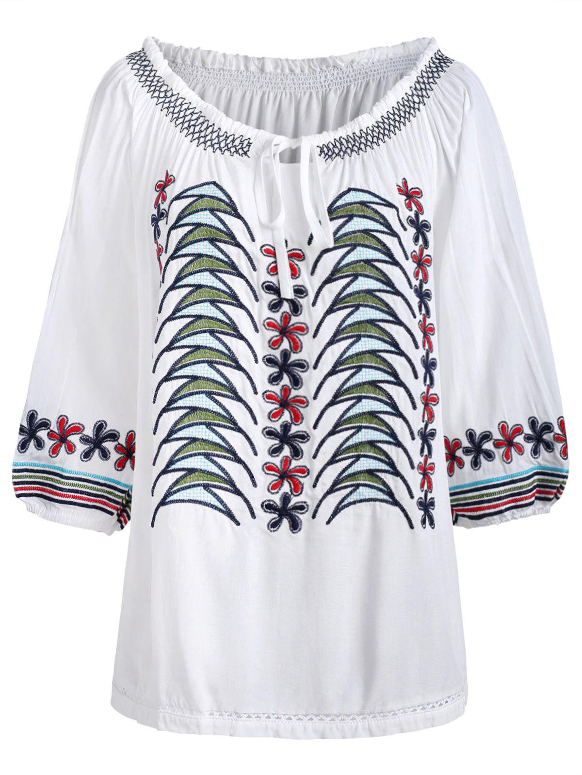 Buy Casual Embroidery Blouse