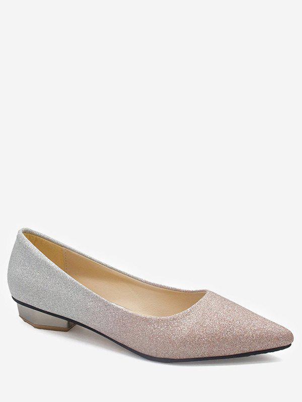 Fashion Leisure Slip On Pointed Toe Crystals Flats