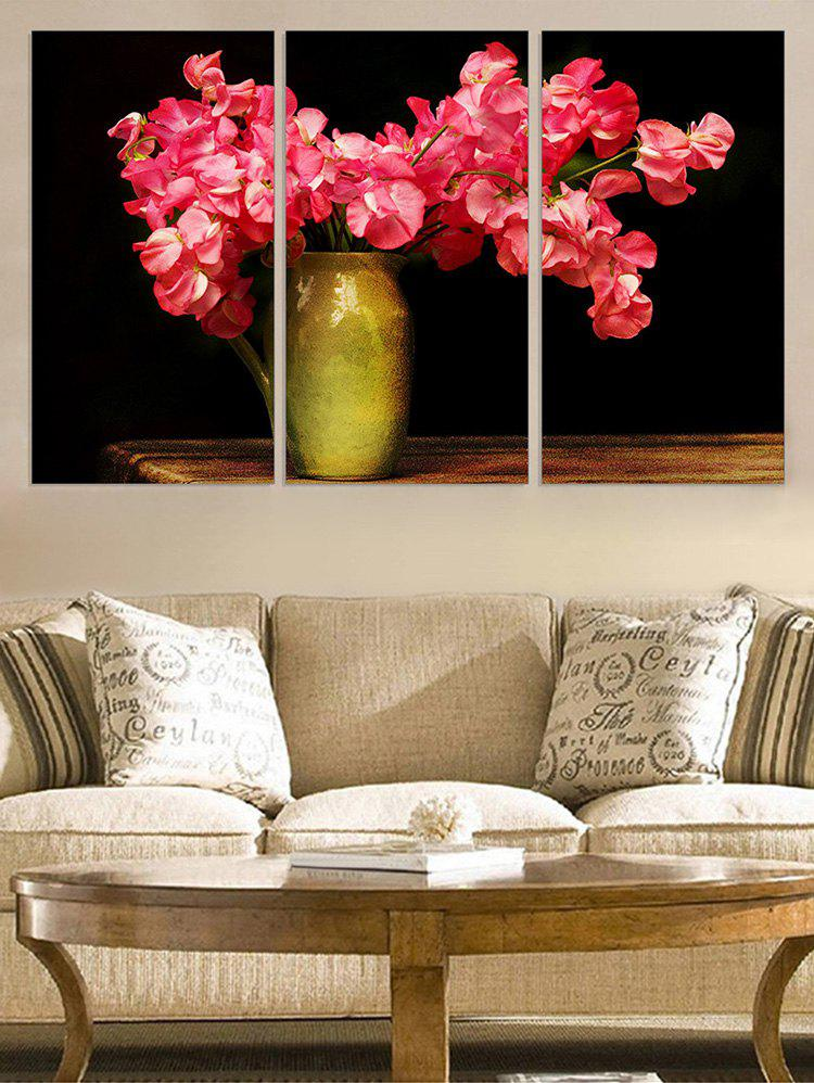 Buy Flower Vase Print Unframed Split Canvas Paintings
