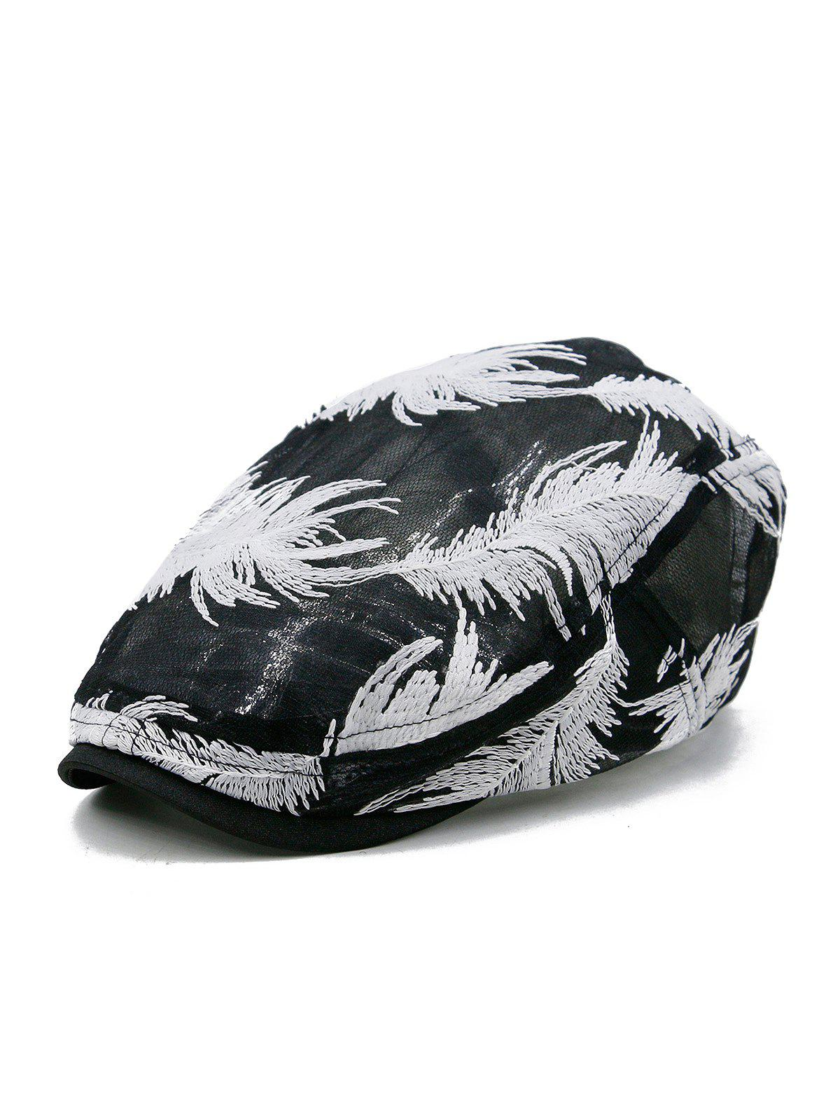 Unique Feather Pattern Decorative Sunscreen Hat