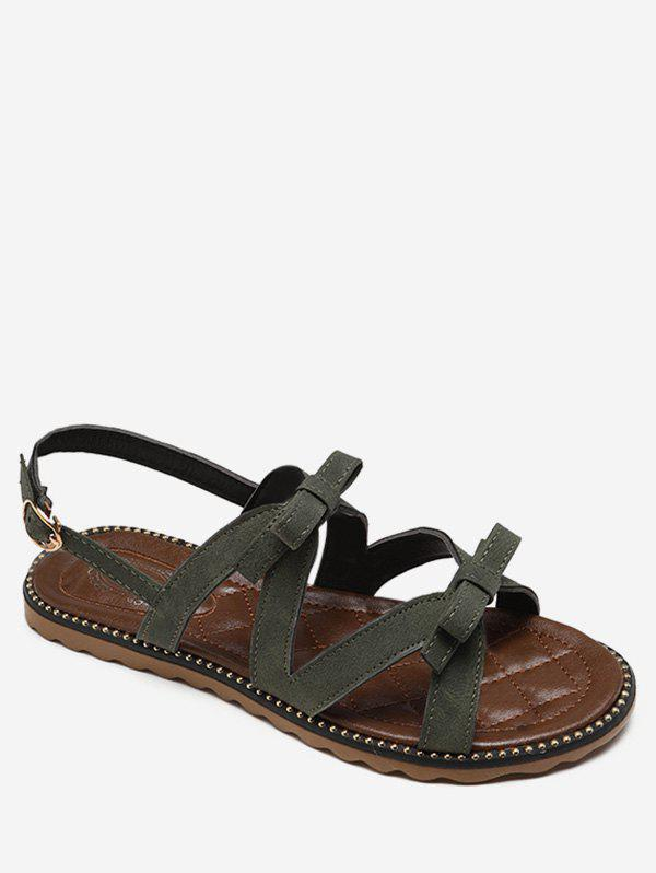 Sale Flat Heel Buckle Strap Bowknot Casual Sandals
