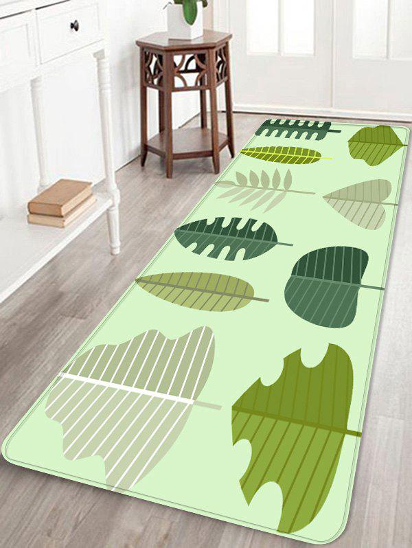 Outfits Tree Leaf Print Coral Fleece Floor Mat
