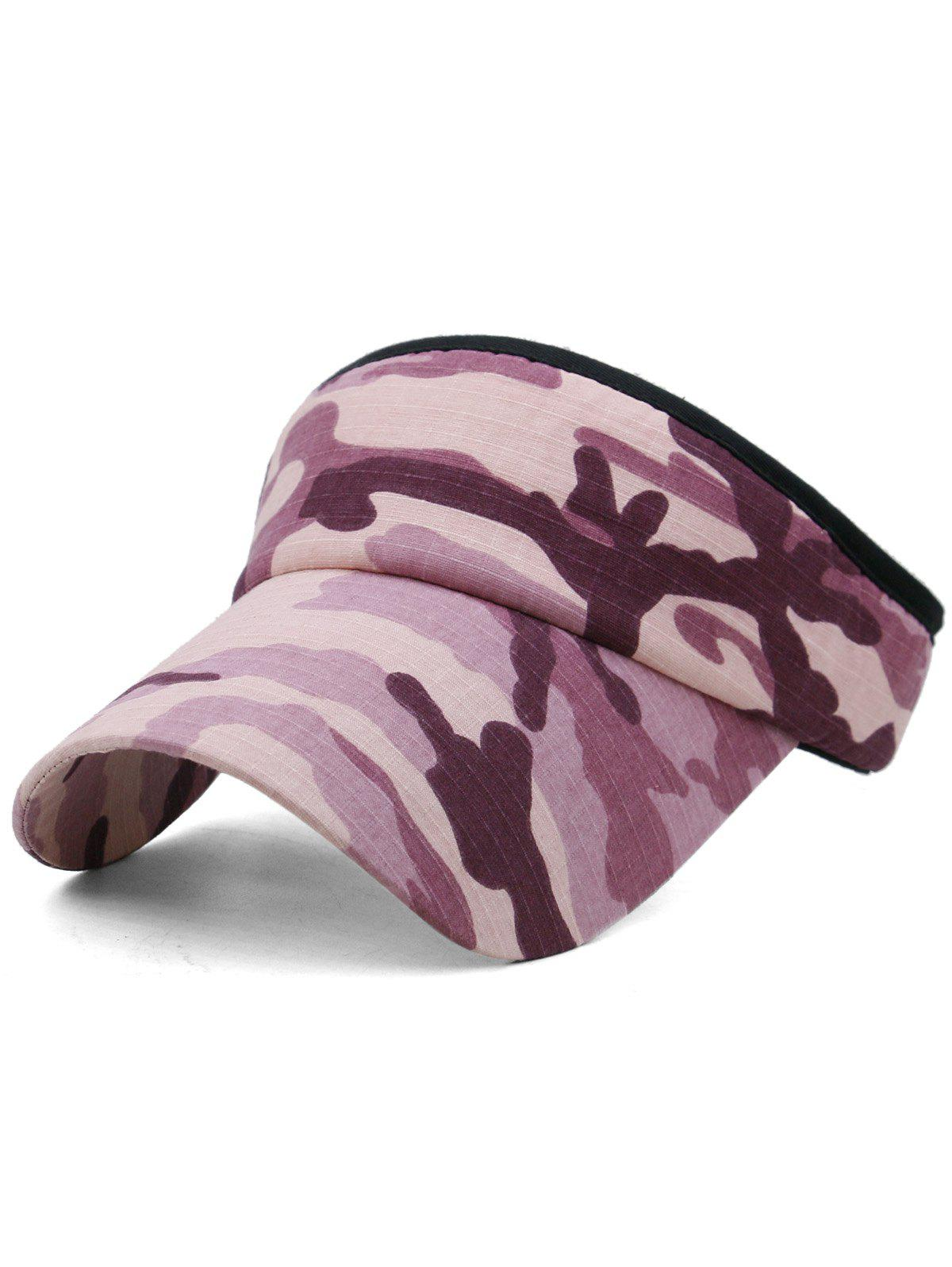 Trendy Outdoor Camo Printed Open Top Sun Hat