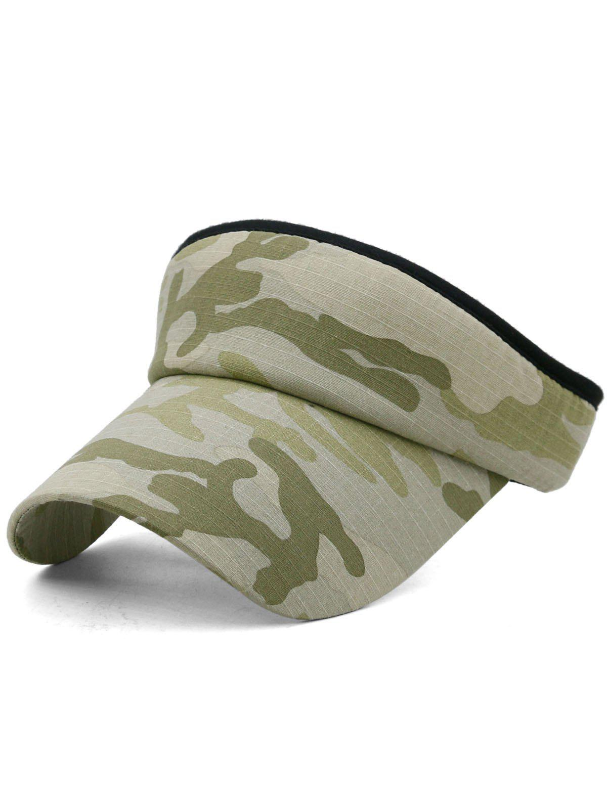 Affordable Outdoor Camo Printed Open Top Sun Hat