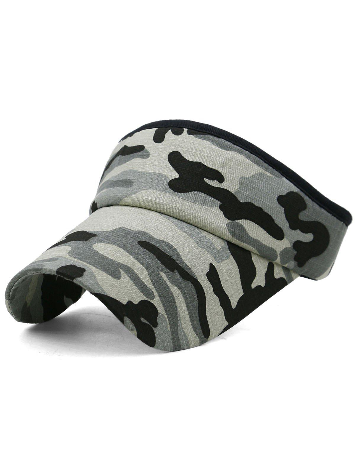 Chic Outdoor Camo Printed Open Top Sun Hat