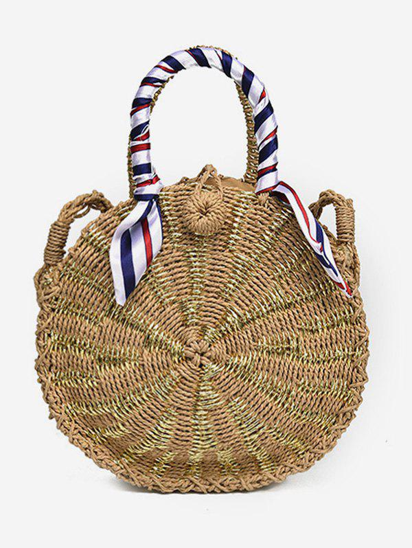 New Vintage Outdoor Trip Straw Handbag with Strap