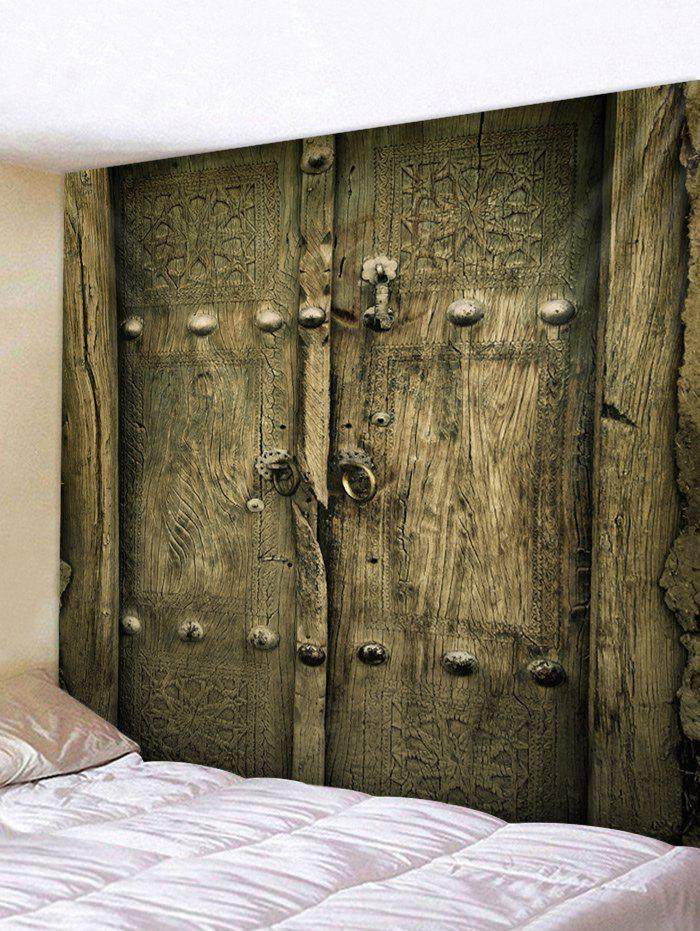 Shop Old Wooden Door Print Wall Decor Tapestry