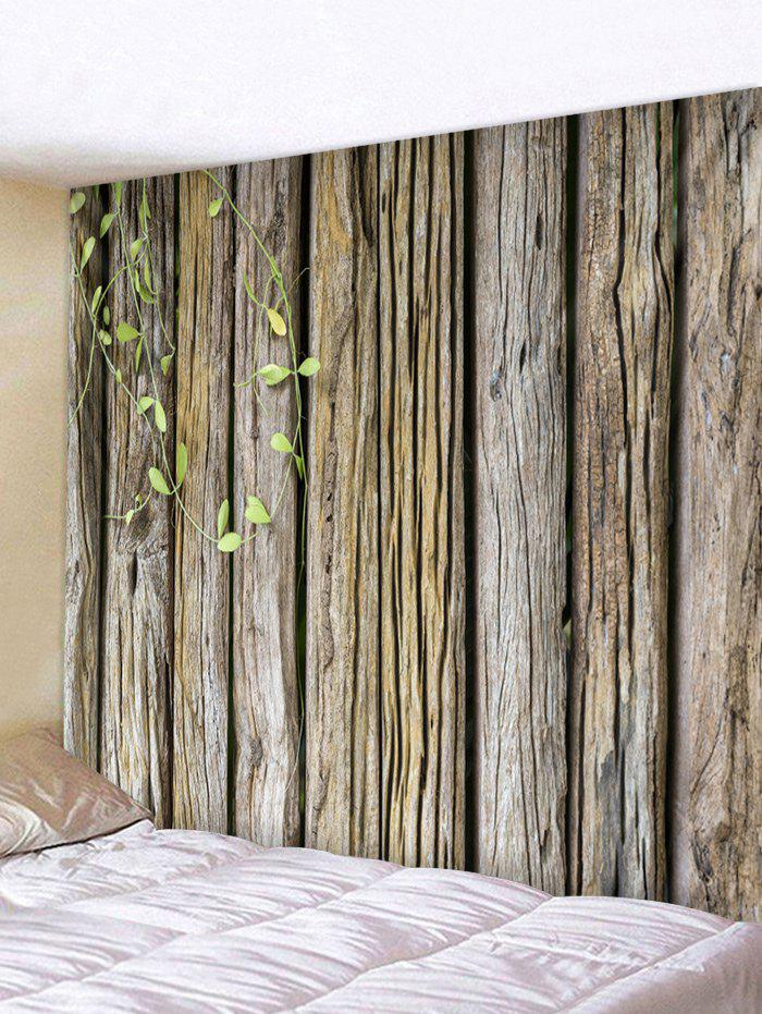Cheap Green Vine Wood Planks Print Wall Ornament Tapestry