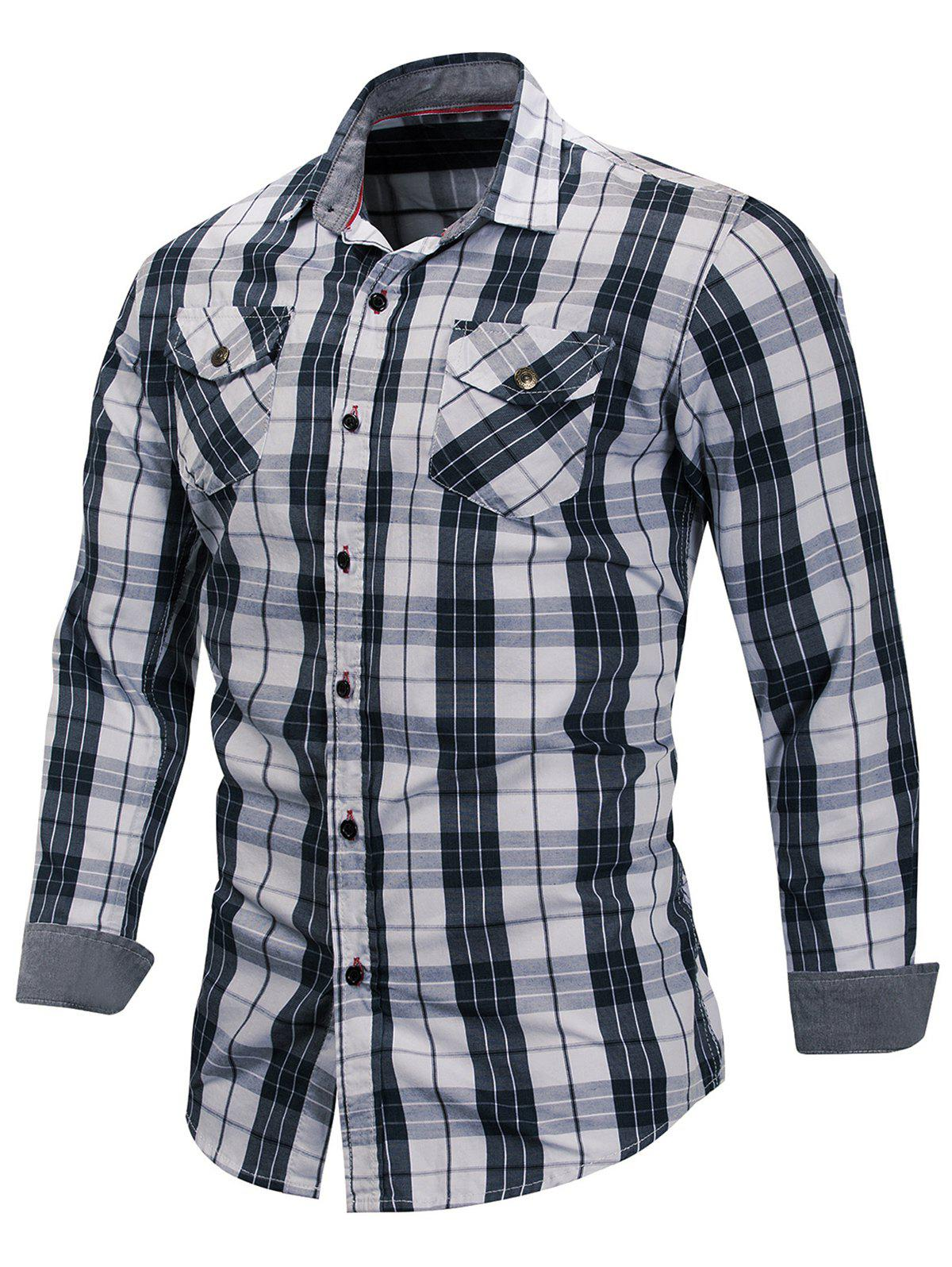 Online Check Pattern Chest Pocket Shirt