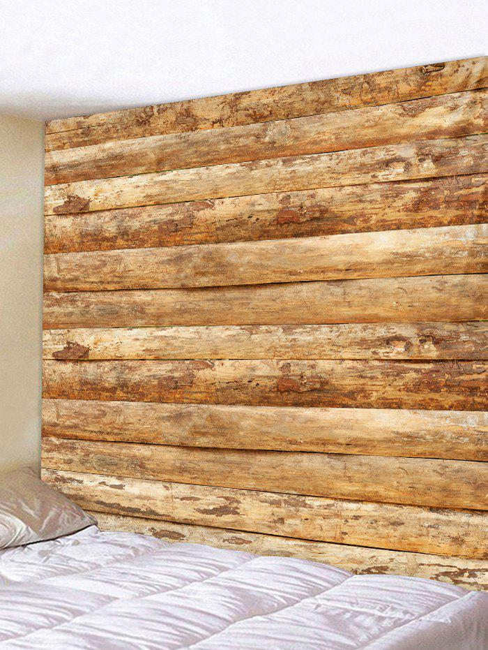 Discount Vintage Horizontal Wooden Planks Print Wall Tapestry