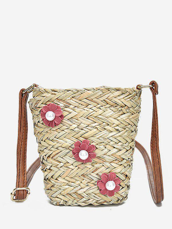 Best Floral Decorated Straw Leisure Crossbody Bag