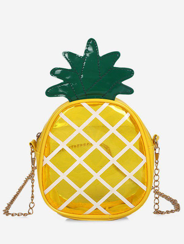 Hot Cross Transparent Pineapple Shaped Chain Crossbody Bag