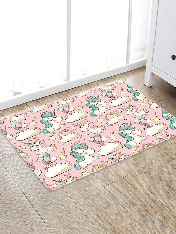 New Uhommi Cartoon Unicorn Print Water Absorption Floor Rug
