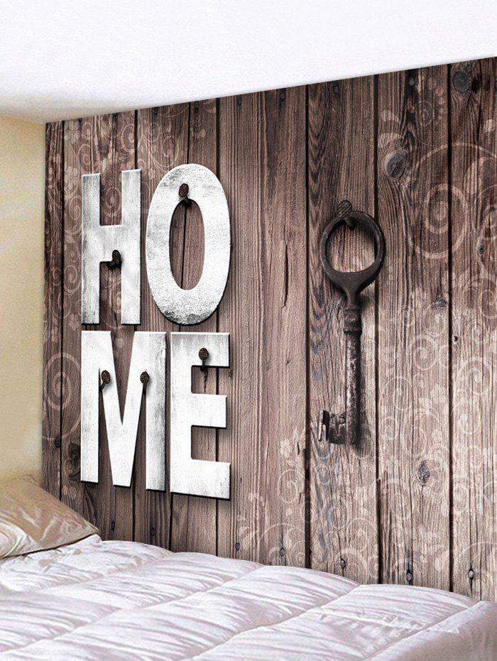 Shops Home Wooden Key Pattern Tapestry Hanging Decor