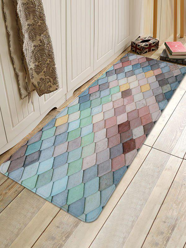 Buy Colorful Square Pattern Antiskid Floor Rug