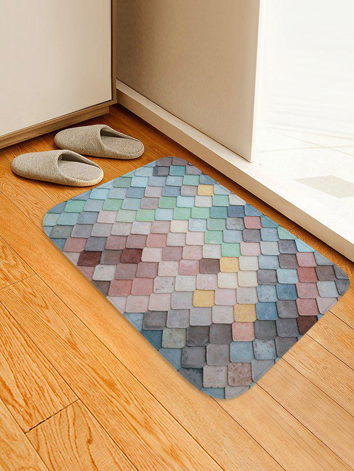 Best Colorful Square Pattern Antiskid Floor Rug