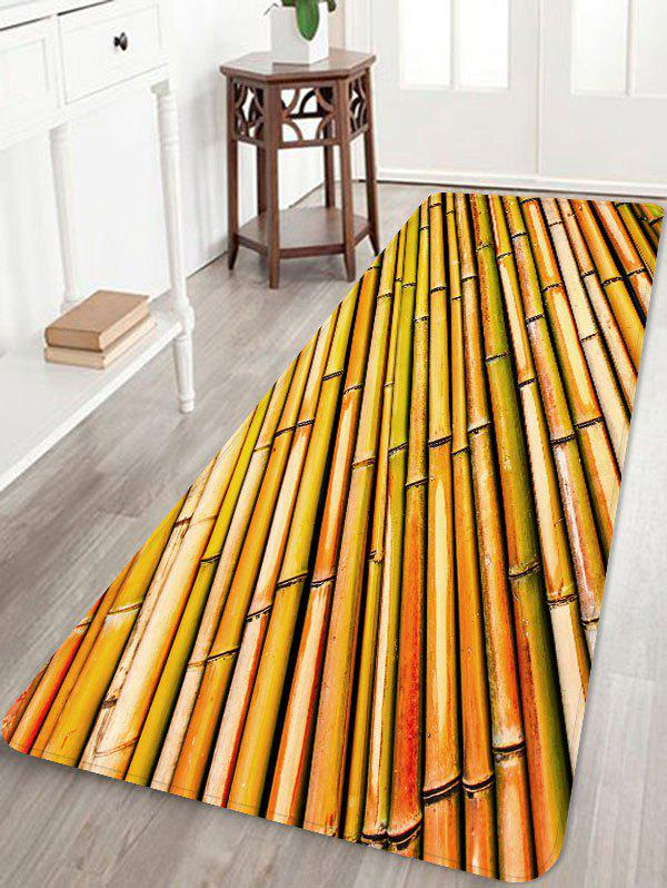 Fancy Rows of Bamboo Print Antiskid Floor Rug