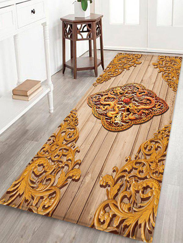Outfits Retro Carved Dragon and Phoenix Print Indoor Floor Rug