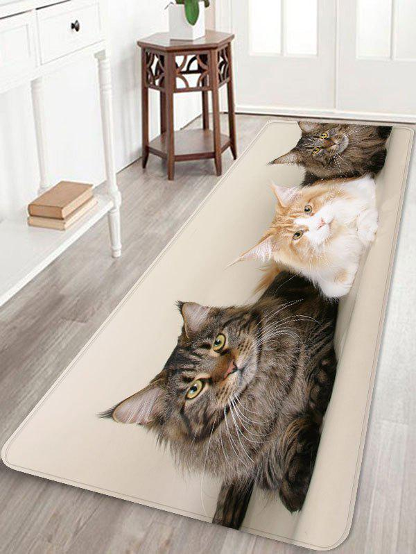 Fancy Three Cat Pattern Antiskid Floor Rug