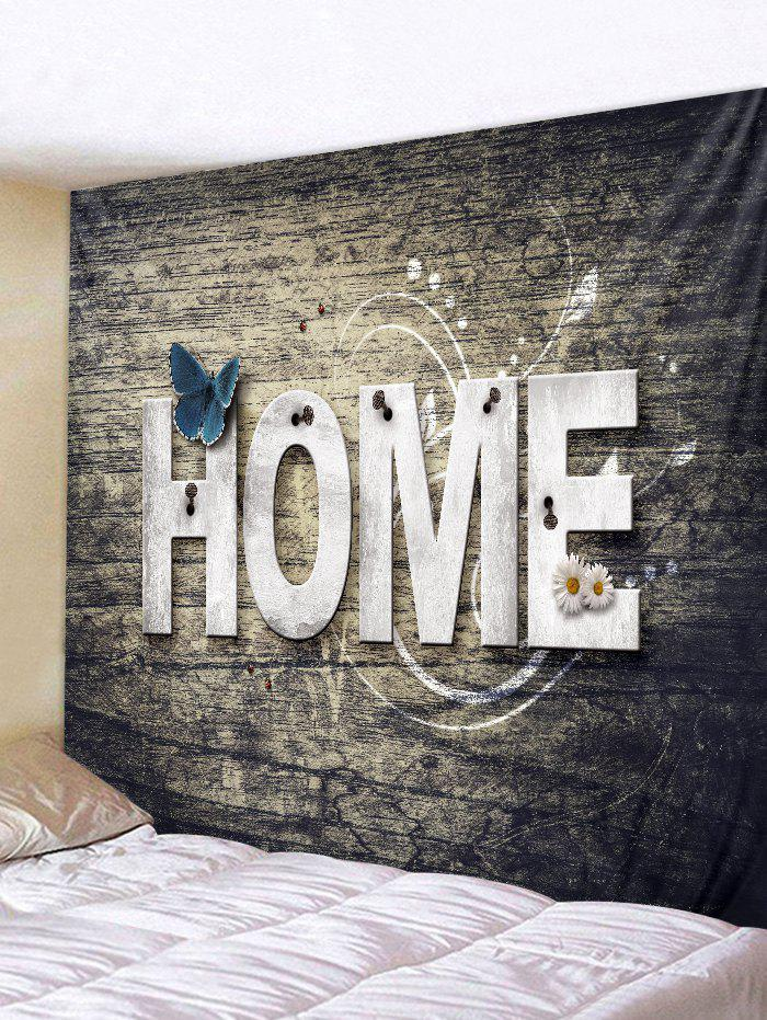 Trendy Home Wooden Butterfly Flower Tapestry Decoration