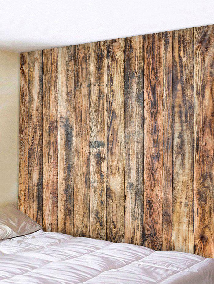 Online Vintage Vertical Wood Board Print Wall Tapestry