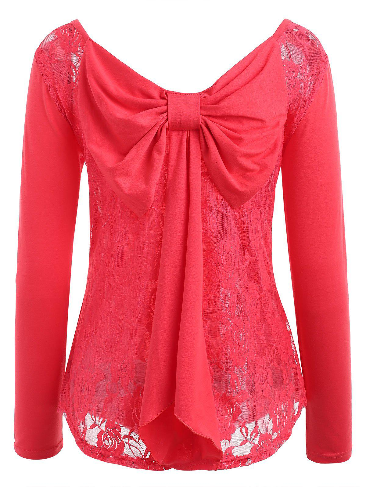 Buy Floral Lace Bow Tie Top