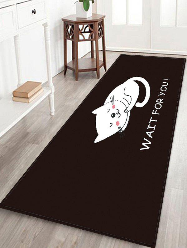 Best Uhommi Cartoon Sleeping Cat Print Antiskid Floor Rug